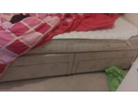 Double divan bed with 4 drawers good condition