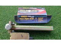 Goldenrod hand held fence stapler and staples