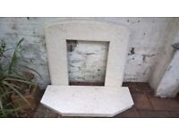 White Granite Fireplace - Great Condition COLLECTION ONLY