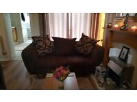 Second hand 2 2 seater fabric sofas