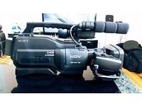 Sony HDV 1000E professional video camera with accessories