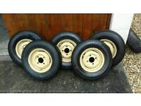 6 X classic mini 10 Inch Wheels And tyres