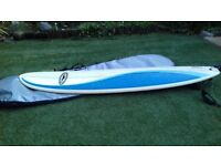 Surfbord 7.6ft Gul with cover/travel case