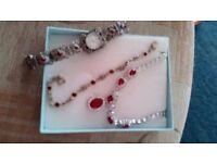 Watch bracelet and necklace - not a set