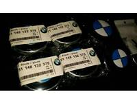 Bmw 68mm centra caps with bonnet and boot and wheel m stickers full set