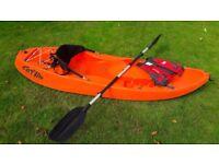 fatyak kayak, paddle and lifejacket