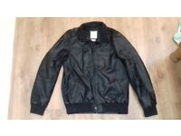 Mens large leather look jacket