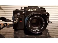 Vintage Zenit 122 Soviet Camera with Helios lense, neck strap and carry case (162465090392)