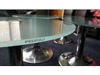 Set of 4 Italian designer glass tables