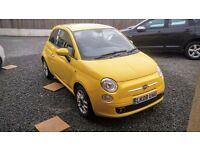 2008 FIAT 500 SPORT 1.4 16V 100 HP 6 SPEED TROPICALIA YELLOW WITH ITALIAN LEATHER