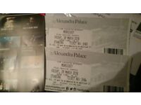 2 x Morrissey Tickets Alexandra Palace London 9th March 2018 09/03/18 In Hand - Courier Delivery