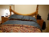 Sturdy, solid wood, double bed