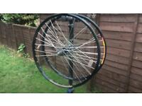 Mavic mountain bike wheels with hope hubs mint condition 26 inch disk brakes