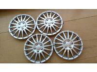 Wheel Trims - Hubcaps. Set of 4. (R15 Tyres) 15 inch/38cm. 4 retaining rings.