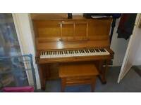 FREE - SMALL OAK PIANO and STOOL