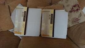 2 pairs of new unopened Cream Jaquard curtains 46/72