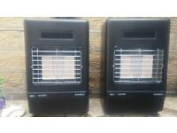 2 Simba RD 4200 Calor Gas fires with empty gas bottles.