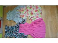 GIRLS SUMMER DRESSES BUNDLE 3x next and 1x M&S