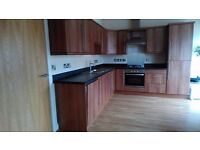 Whole Fitted Kitchen with some Appliances. Good condition. L shaped 3m x 2m. Real Wood Veneer
