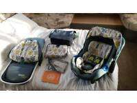New Cosatto Port 2, 3 in 1 Isofix Travel System Pram, Baby Carry Cot Carrycot with Port Car Seat ISO