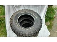 Goodyear Wrangler MT/R tyres, good as new tread 235 75 15