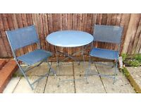 Metal bistro set (2 x chairs & 1 table)