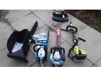 Chainsaw strimmer and edge strimmer all petrol