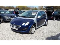 Smart Forfour 1.1 Passion 5dr£1,295 one keeper from new 2006 (06 reg),SERVICE HISTORY