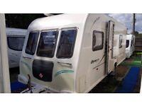 2011 Bailey Olympus 534 4 Berth Fixed Bed End Washroom Caravan with Alu Tech Body