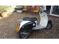 BTM 50cc retro scooter moped 12months Mot