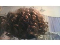 short brown curly wig