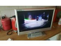 "22"" LED true 1080p TV built DVD player"