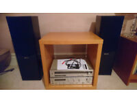 Technics Hi Fi Amp Tuner and Speakers