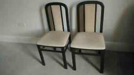 2 wooden chairs on sale