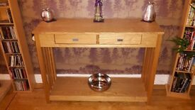 Light Oak wooden Sideboard-as New.