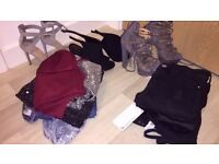 Ladies 6/8 clothing, river island, new look, shoes, heels, tops, dresses, active wear, trousers new