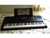 keyboard with stand and stool
