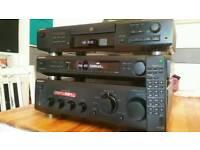 Sony separates hifi amplifier, tuner, CD remote
