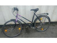GERMAN DIN TOWN BIKE MADE IN GERMANY 18 SPEED 26 INCH WHEEL AVAILABLE FOR SALE