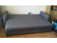 IKEA Three-seat sofa-bed FRIHETEN Skiftebo dark grey