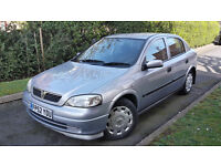 2002 VAUXHALL ASTRA 1.4 5 DOOR,LOW MILEAGE,FULL VAUXHALL SERVICE HISTORY,VERY GOOD COND.