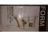 NEW (FORM) beech style bowed wall shelf kit from B&Q