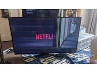 """56"""" Samsung Smart TV with broken screen. (Selling for parts)"""