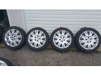 Ford GENUINE 17 '' alloy wheels + 4 x tyres 205 50 17 ''
