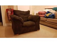 Free- comfy Brown armchair