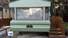 Willerby Westmorland 28x10 Caravan.Sleep 6. Three year old Decking .