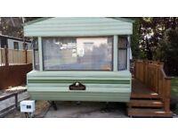 Willerby Westmorland 28x10 Caravan.Sleep 6. Three year old Decking .