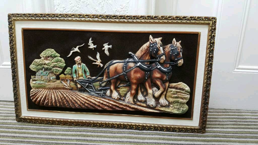 Large 3D/relief framed picture