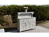 Lovely Oak Dresser, Shabby Chic in Paris Grey. Matching Table and Chairs Available. Can Deliver.