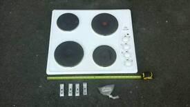 X DISPLAY UNUSED ELECTRIC WHITE HOB WITH FIXINGS ETC £64.99 O.N.O